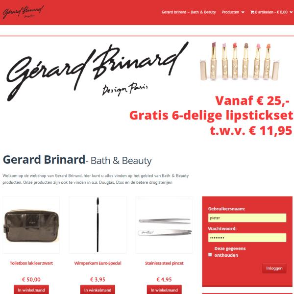 Webshop Gerard Brinard